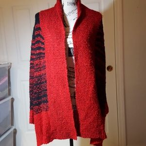 Style&Co Red/Black Sweater